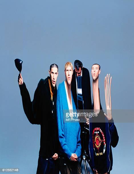 American rap group Beastie Boys circa 1990