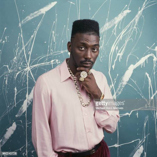 American rapper and actor Big Daddy Kane , circa 1988.