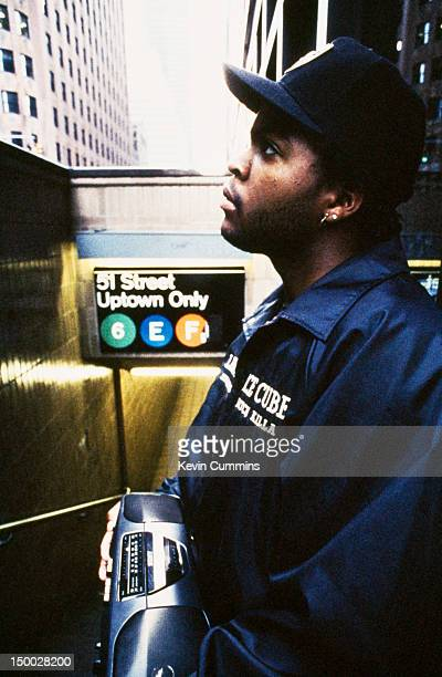 American rapper and actor Ice Cube Manhattan New York City 23rd July 1990