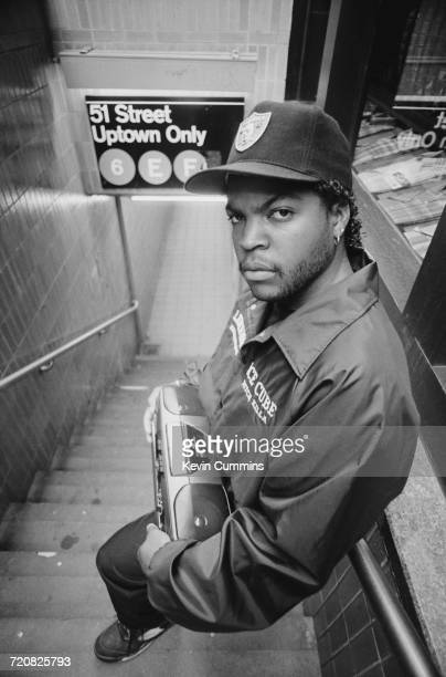 American rapper and actor Ice Cube New York City 23rd July 1990
