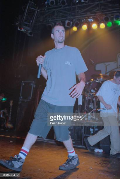 American rapper and musician Adam Yauch performs live on stage with hip hop group Beastie Boys at The Astoria in London in June 1994.