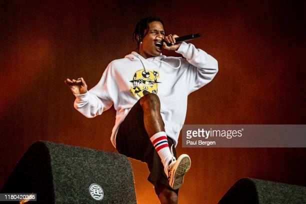 American rapper and producer A$AP Rocky performs at Lowlands festival 2019, Biddinghuizen, Netherlands, 18th August 2019.