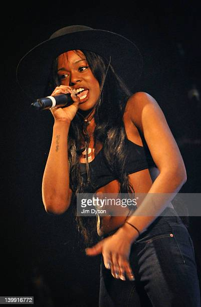 American rapper Azealia Banks performs live on stage at Brixton Academy during the NME Awards Tour on February 25, 2012 in London, United Kingdom.