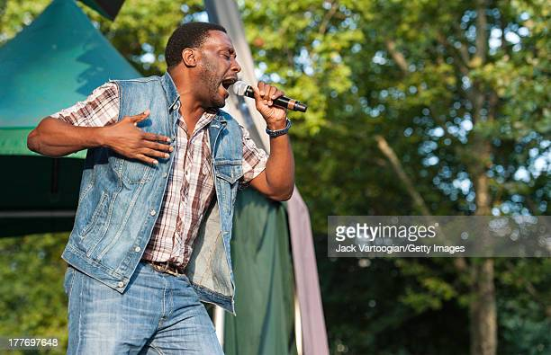 American rapper Big Daddy Kane performs at the '40th Anniversary of Hip-Hop Culture' concert at Central Park SummerStage, New York, New York, August...
