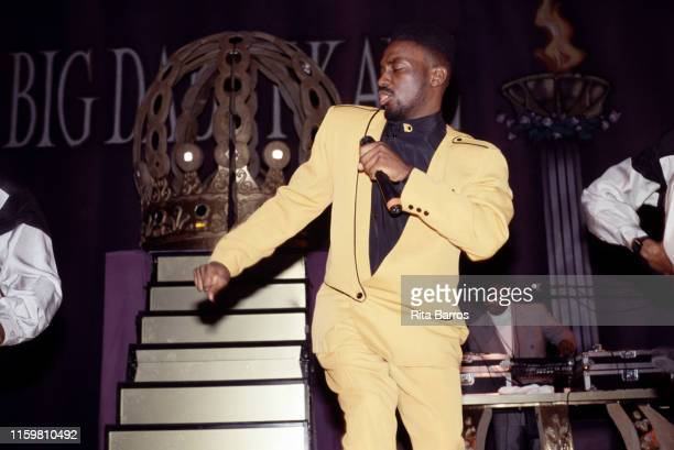 American rapper Big Daddy Kane performs onstage at Harlem's Apollo Theater New York New York February 1990