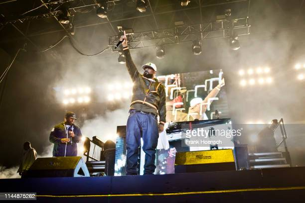 American rapper Corey Woods aka Raekwon and Dennis Coles aka Ghostface Killah of WuTang Clan perform live on stage during the concert Gods of Rap at...
