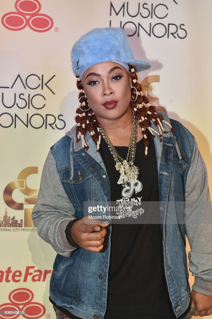 American Rapper Da Brat arrives at the 2017 Black Music Honors at Tennessee Performing Arts Center on August 18, 2017 in Nashville, Tennessee.