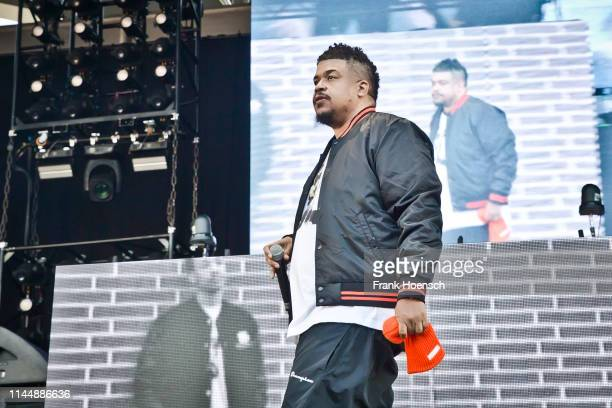 American rapper David Jude Jolicoeur aka Dave of De La Soul performs live on stage during the concert Gods of Rap at the Parkbuehne Wuhlheide on May...