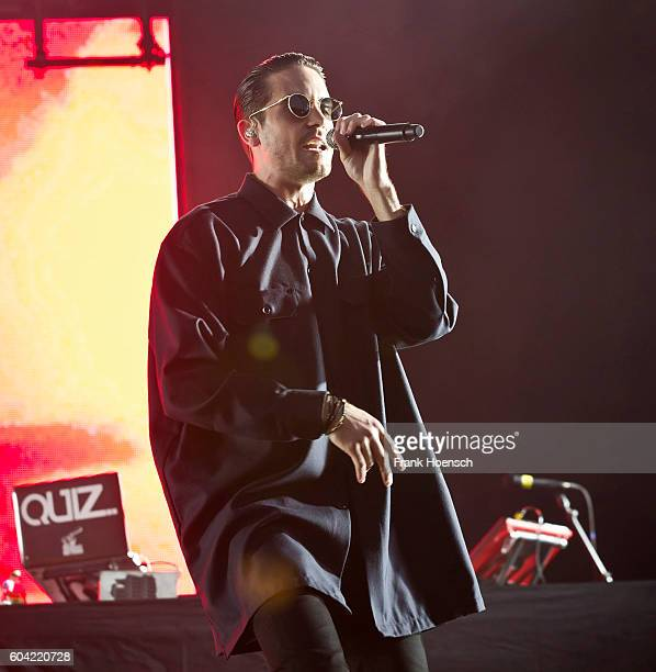 American rapper GEazy performs live on stage during the first day of Lollapalooza Festival at the Treptower Park on September 10 2016 in Berlin...
