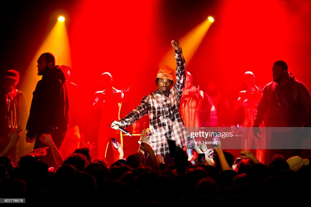 American rapper Jordan Terrell Carter aka Playboi Carti performs live on stage during a concert at the Festsaal Kreuzberg on February 20, 2018 in Berlin, Germany.