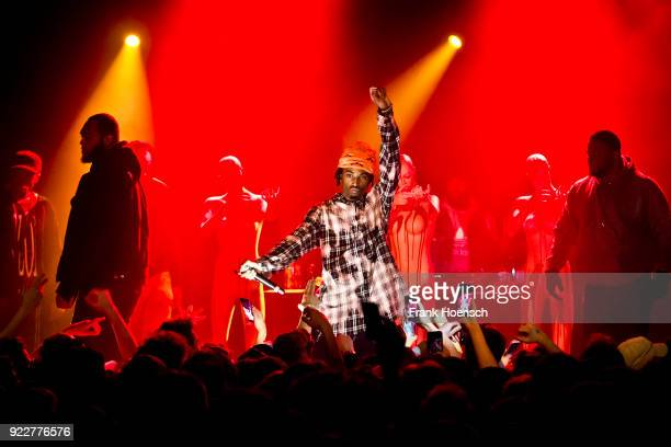 American rapper Jordan Terrell Carter aka Playboi Carti performs live on stage during a concert at the Festsaal Kreuzberg on February 20, 2018 in...