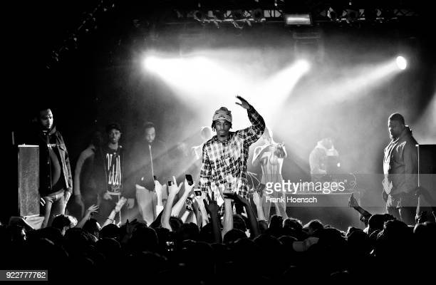 American rapper Jordan Terrell Carter aka Playboi Carti performs live on stage during a concert at the Festsaal Kreuzberg on February 20 2018 in...