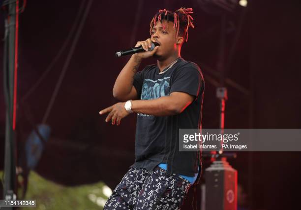 American rapper Juice Wrld performing on Day 2 of Wireless Festival held at Finsbury Park London PRESS ASSOCIATION Photo Picture date Saturday July 6...