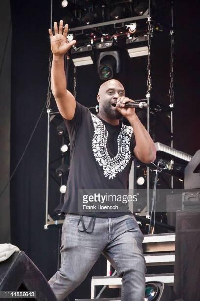 American rapper Kelvin Mercer aka Posdnous of De La Soul performs live on stage during the concert Gods of Rap at the Parkbuehne Wuhlheide on May 18,...