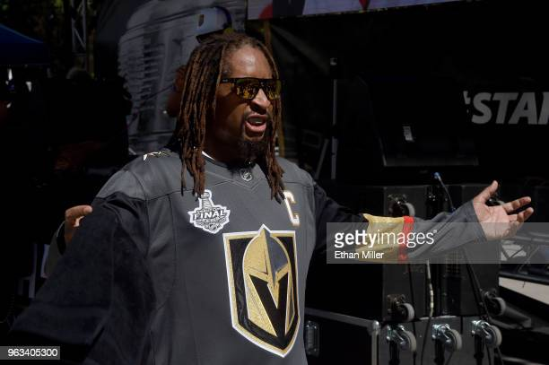 American rapper Lil Jon performs prior to Game One of the 2018 NHL Stanley Cup Final between the Vegas Golden Knights and the Washington Capitals at...