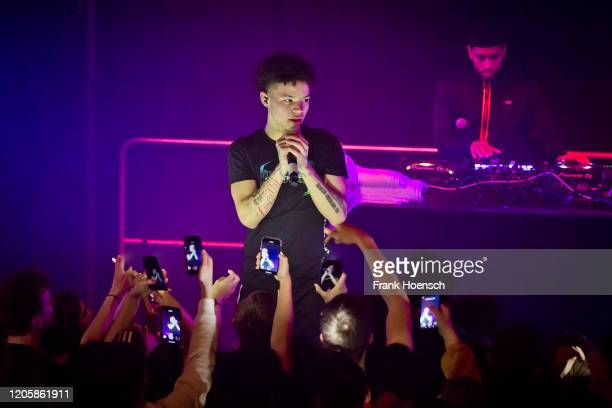 American rapper Lil Mosey performs live on stage during a concert at the Saeaelchen on February 12 2020 in Berlin Germany