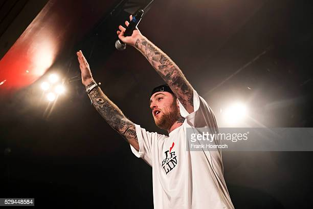 American rapper Mac Miller performs live during a concert at the Astra on May 8 2016 in Berlin Germany
