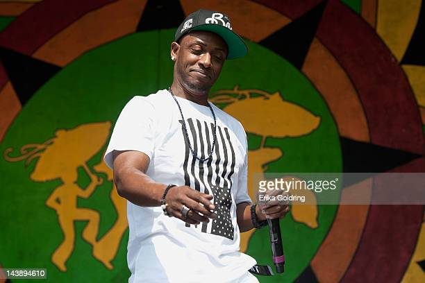 American rapper Michael Lawrence Tyler aka Mystikal performs during the 2012 New Orleans Jazz Heritage Festival at the Fair Grounds Race Course on...