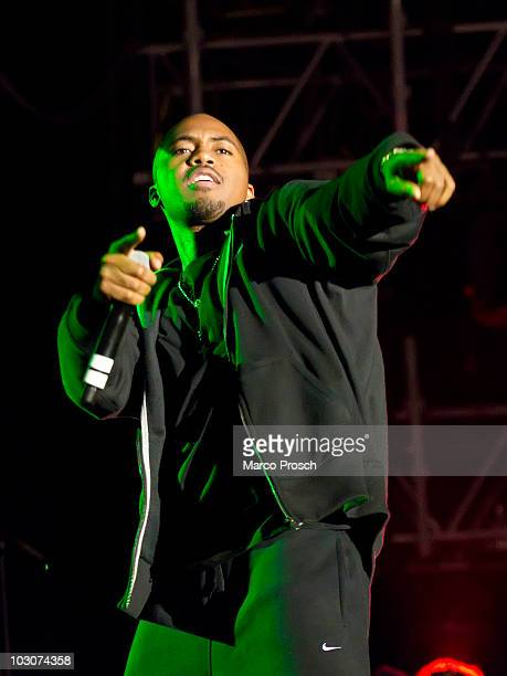 American rapper Nas performs live at the Splash festival in Ferropolis on July 23 2010 in Graefenhainichen Germany