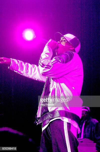 American rapper Nas performs onstage Chicago Illinois May 24 2002