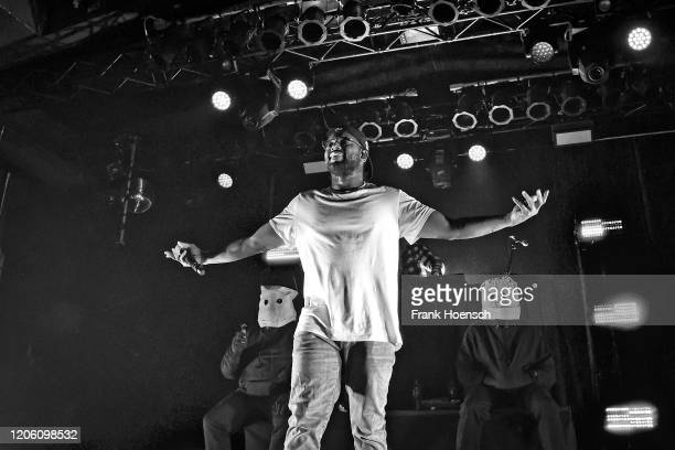 American rapper Quincy Matthew Hanley aka Schoolboy Q performs live on stage during a concert at the Astra on February 13, 2020 in Berlin, Germany.