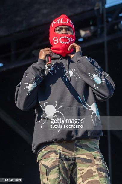 American Rapper Sheck Wes performs during the Astroworld Festival at NRG Stadium on November 9 2019 in Houston Texas
