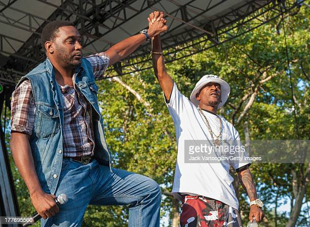 American rappers Big Daddy Kane and Rakim perform at the '40th Anniversary of Hip-Hop Culture' concert at Central Park SummerStage, New York, New...