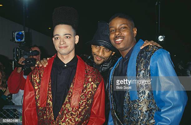 American rappers Christopher 'Kid' Reid and Christopher 'Play' Martin attend The Movie Awards at the Universal Ampitheater in Universal City Los...