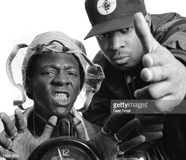 American rappers Flava Flav and Chuck D of Public Enemy London UK June 1997