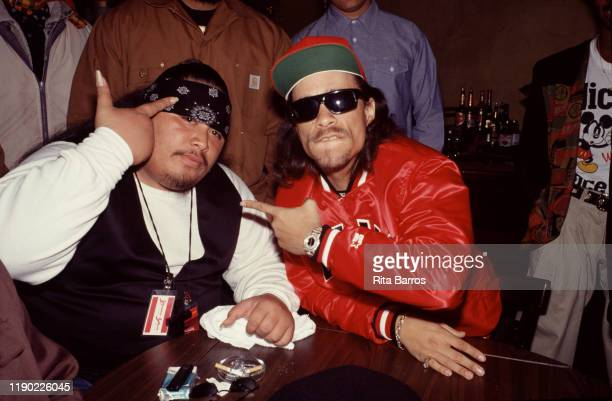American rappers the Godfather of the group BooYaa TRIBE and IceT as they attend an event at the MK Club New York New York 1990s