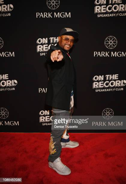 American rapper/singer apldeap arrives at the grand opening celebration of On The Record Speakeasy and Club at Park MGM on January 19 2019 in Las...