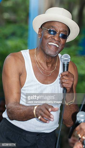 American RB and Soul musician Billy Paul performs during the Brooklyn Academy of Music's Rhythm Blues Festival at Metrotech Center New York New York...