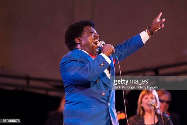 American RB and soul singer Percy Sledge performs at the Lincoln Center OutofDoors 23rd Annual Roots of American Music Festival 'Southern Soul'...