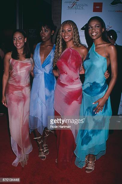 American RB girl group Destiny's Child attends the CFDA American Fashion Awards at the Lincoln Center New York City USA circa 2000 LR Farrah Franklin...