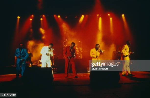 American RB group Silk performing on stage circa 1990