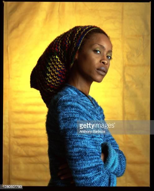 American R&B, Jazz, and Pop singer Erykah Badu , New York, New York, 2000.