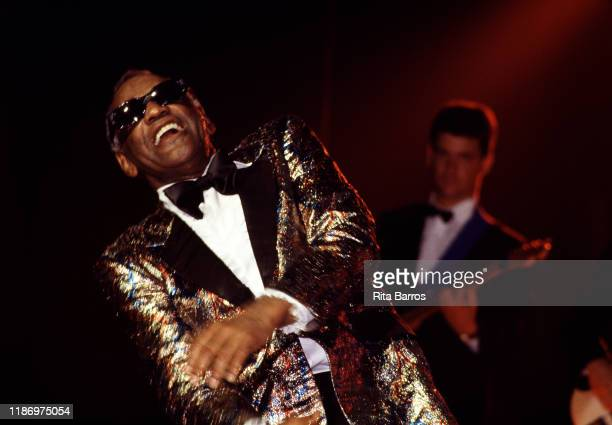 American RB Pop Country and Soul musician Ray Charles performs onstage at the Casino do Estoril Cascais Portugal July 22 1988