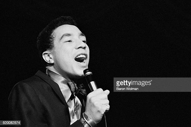 American RB singer and songwriter Smokey Robinson sings at Bimbo's in San Francisco May 1968