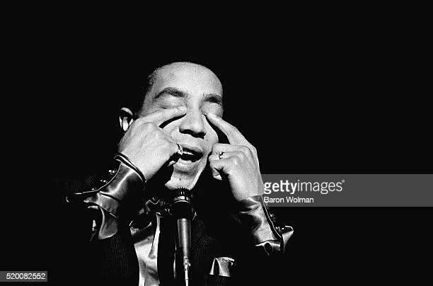 American RB singer and songwriter Smokey Robinson sings 'The Tracks of My Tears' at Bimbo's in San Francisco May 1968