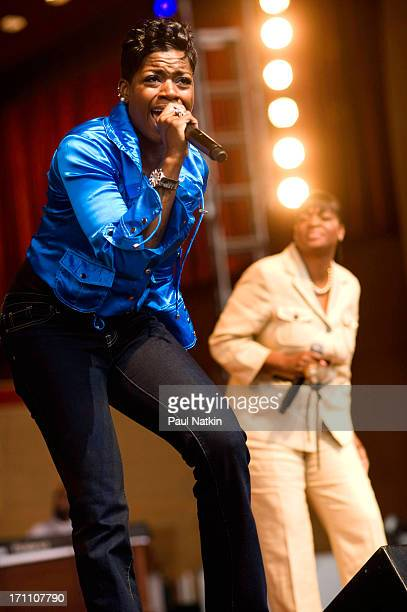 American RB singer Fantasia Barrino and her mother evangelical prescher Diane Barrino perform onstage during the 25th Annual Chicago Gospel Music...