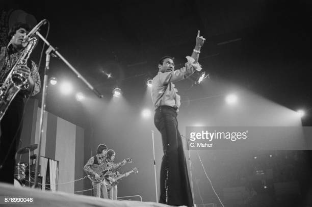 American R&B singer Geno Washington performing at the Daily Express Record Star Show, UK, 26th March 1968.