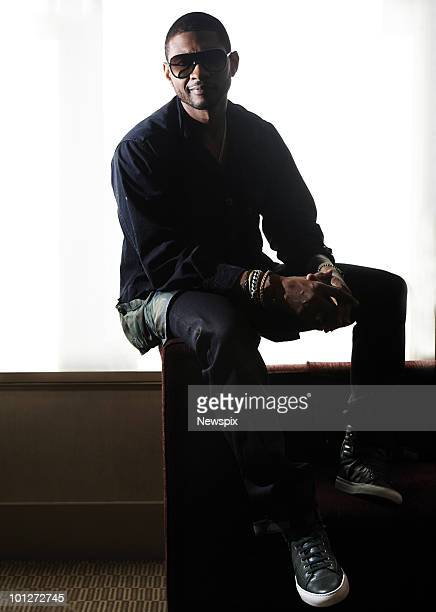 American RB singer Usher poses for portraits in Sydney the Intercontinental hotel on May 20 2010 in Sydney Australia