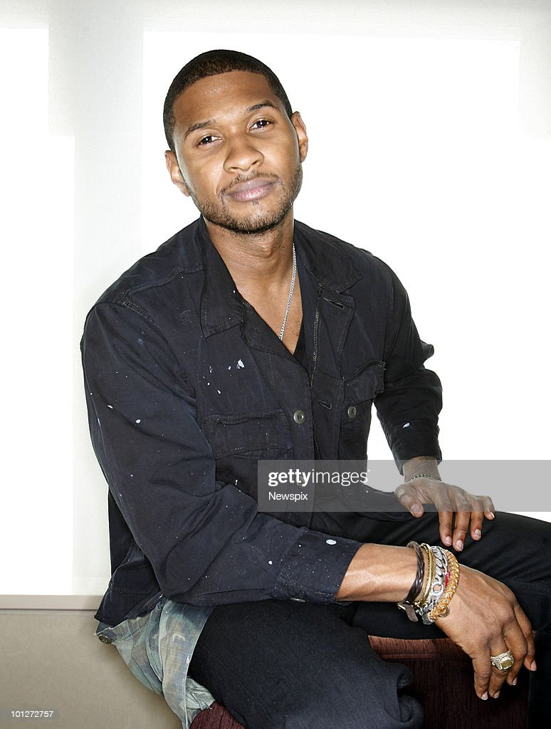American R&B singer, Usher poses for portraits in Sydney the Intercontinental hotel on May 20, 2010 in Sydney Australia .