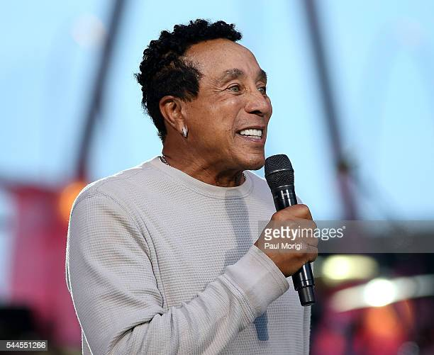 American RB singersongwriter Smokey Robinson performs during A Capitol Fourth Rehearsals at US Capitol West Lawn on July 3 2016 in Washington DC