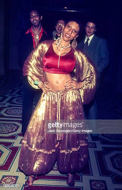 American RB Soul and Funk singer Nona Hendryx poses as she leaves After Dark magazine's Ruby Awards party at the Waldorf Astoria Hotel New York New...