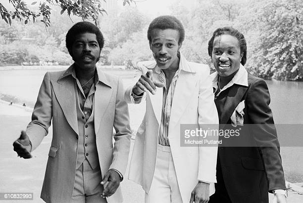 American RB vocal group The Persuaders USA April 1978 Lead singer Douglas 'Smokey' Scott is at left