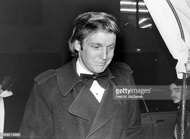 American real estate developer Donald Trump attends Roy Cohn's birthday party at the Seventh Regiment Armory New York New York February 22 1981