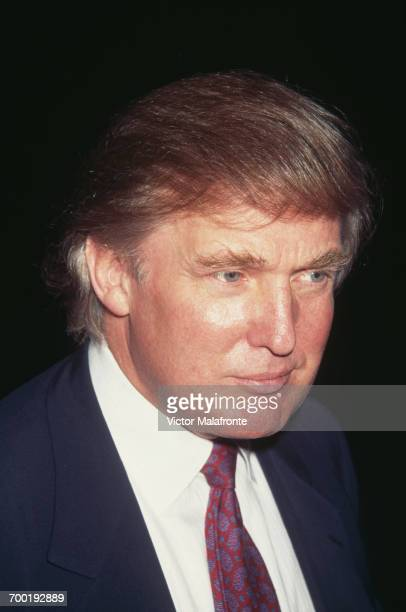 American real estate magnate Donald Trump at a Friar's Club roast for actor Steven Seagal New York City 6th October 1995