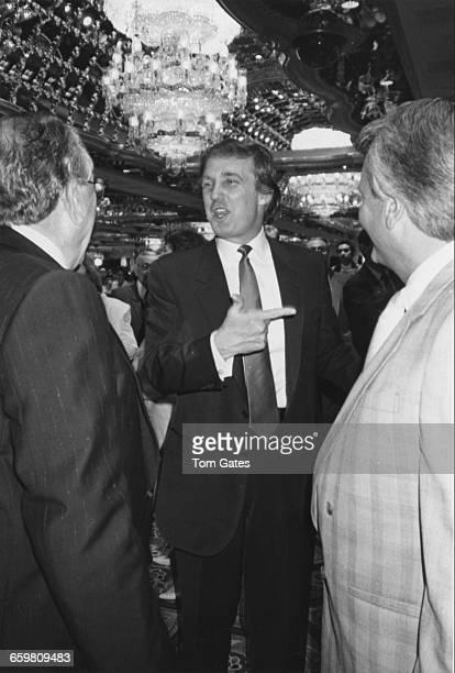 American real estate magnate Donald Trump at the opening of his Trump Taj Mahal Casino in Atlantic City New Jersey 2nd April 1990