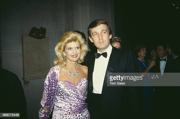 American real estate magnate Donald Trump with his first wife Ivana at the Costume Institute Gala held at the Metropolitan Museum of Art New York...